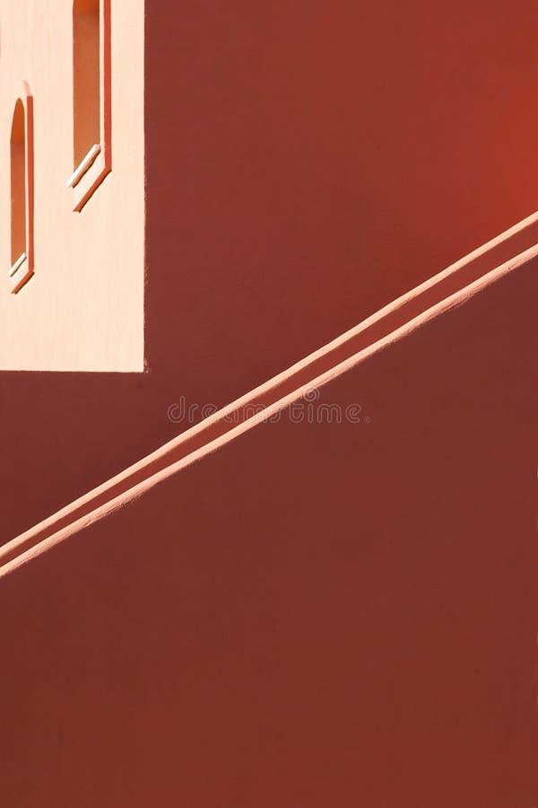 Eenvoudige lijnen en architectuur van Spaans bezit stock fotografie