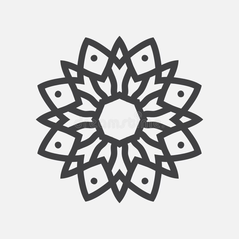 Eenvoudige Mandala Shape embleem vector illustratie