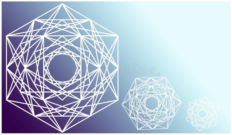 Eenvoudige meetkunde abstracte blauwe achtergrond stock illustratie