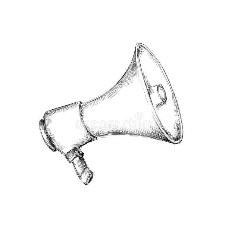 Eenvoudige megafoon vector illustratie