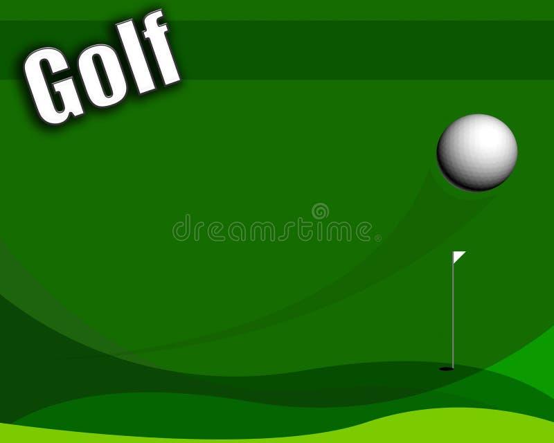 Eenvoudige in menig opzicht nuttige golflay-out royalty-vrije illustratie