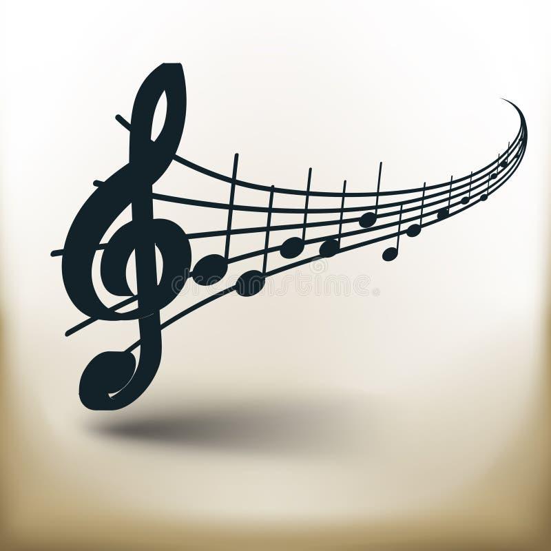 Eenvoudige muzieknota's royalty-vrije illustratie