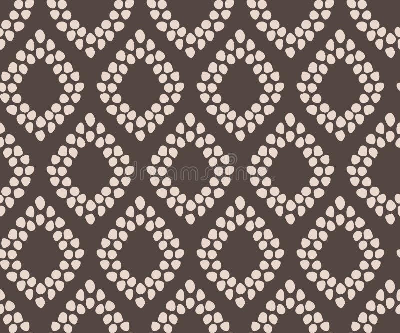 Eenvoudige naadloze geometrische elegant van het damast vectorpatroon vector illustratie