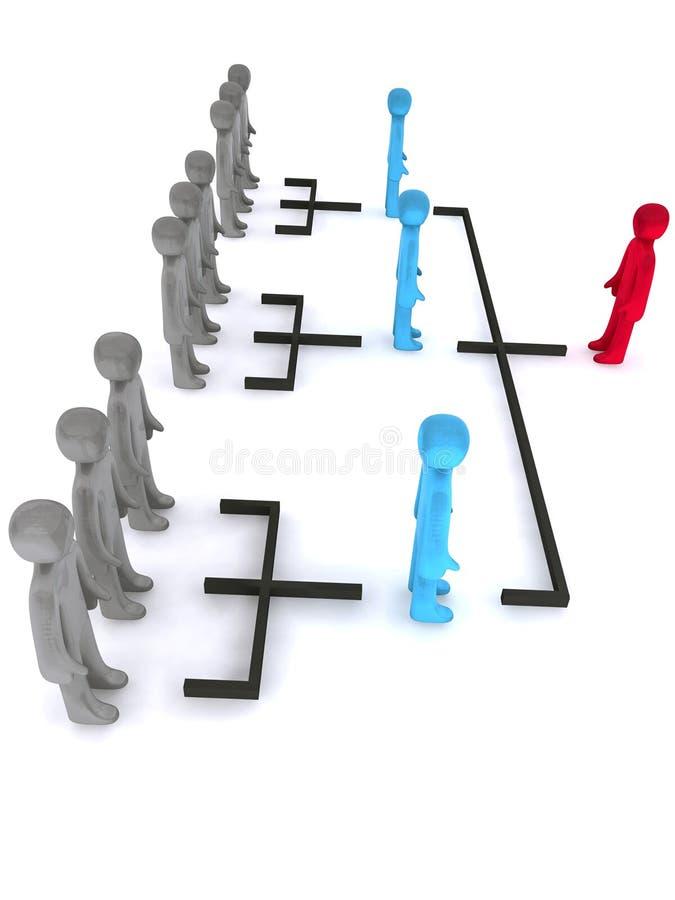 Eenvoudige organisatorische structuur royalty-vrije illustratie