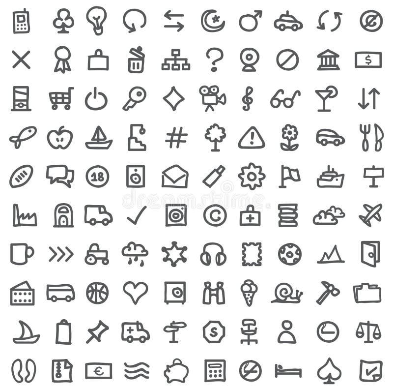 Eenvoudige pictogramreeks vector illustratie