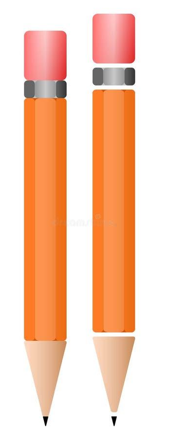 Eenvoudige potloden stock afbeeldingen