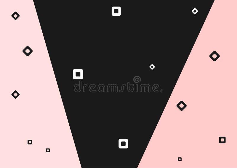 Eenvoudige rechthoekige achtergrond Horizontaal patroon met geometrische vormen royalty-vrije illustratie