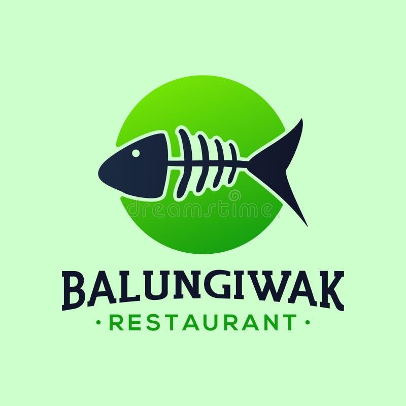 Eenvoudige Restaurantluxe Logo Vector Design stock illustratie