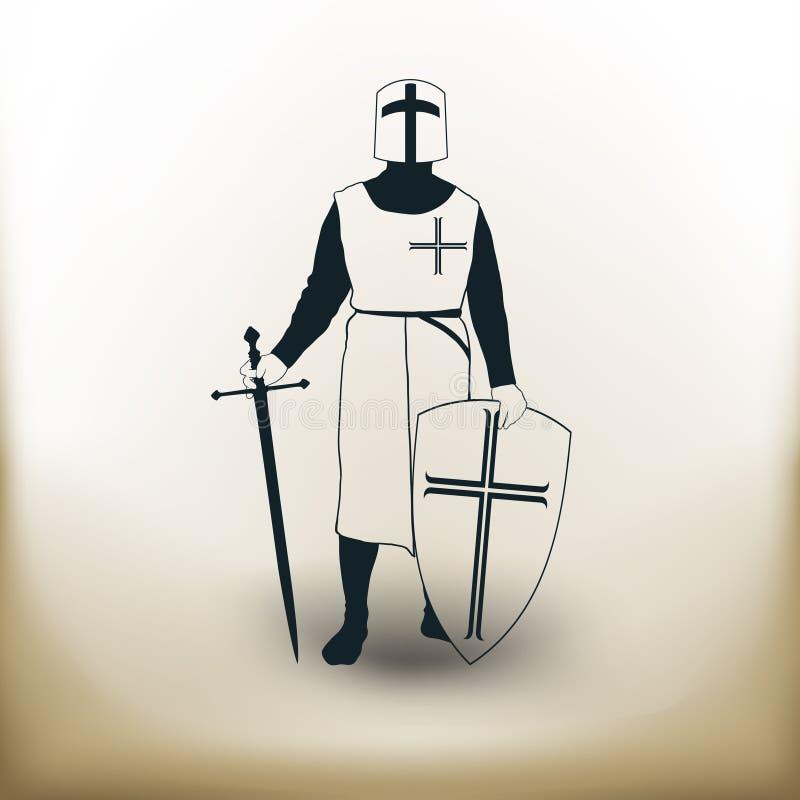 Eenvoudige ridder stock illustratie