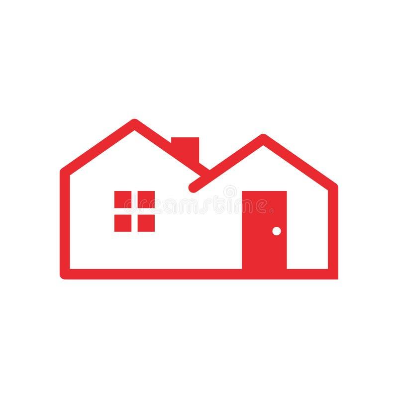 Eenvoudige Rode Huisvesting royalty-vrije illustratie