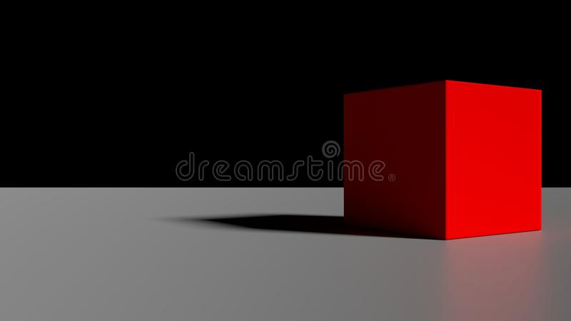 Eenvoudige Rode Kubus royalty-vrije stock afbeeldingen