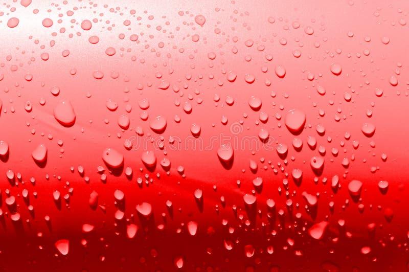 Eenvoudige rode waterdrops