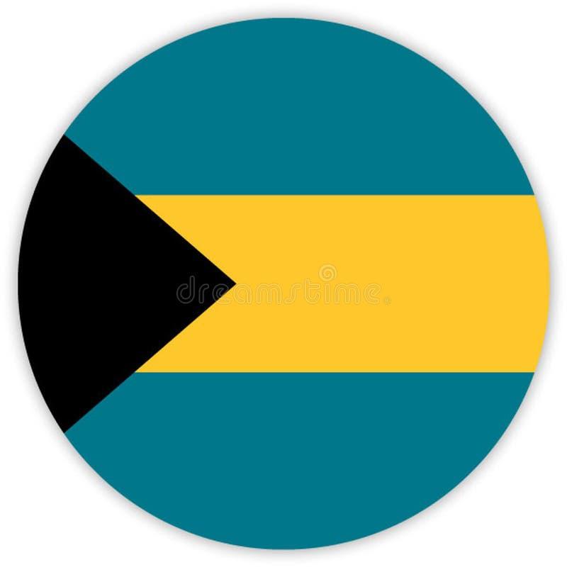 Eenvoudige ronde vlag Vector illustratie stock illustratie