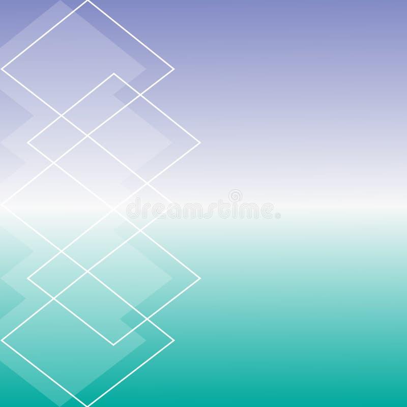 Eenvoudige subtiele blauwe en lichtgroene achtergrond vector illustratie