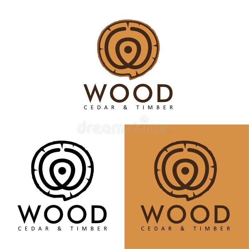 Eenvoudige Vector: Logo Wood Lumber vector illustratie