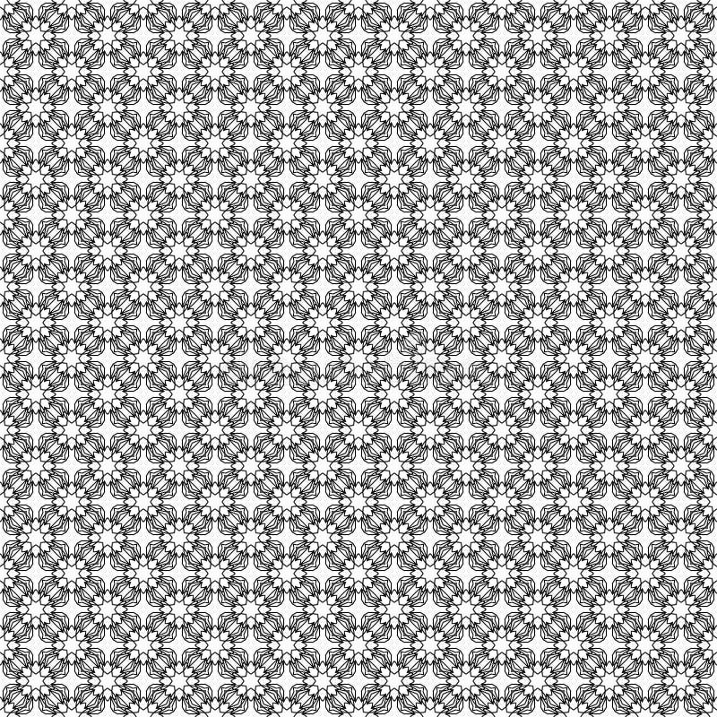 Eenvoudige vector naadloze zwart-witte achtergrond royalty-vrije illustratie
