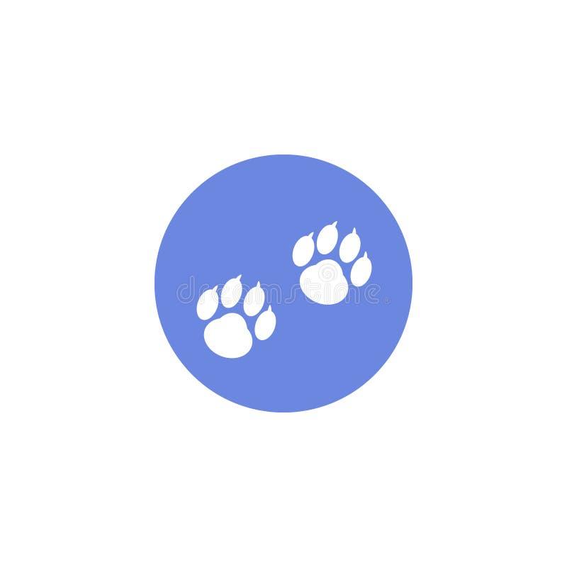 Eenvoudige vector vlakke kunst om pictogram van dierlijke voetafdrukken vector illustratie