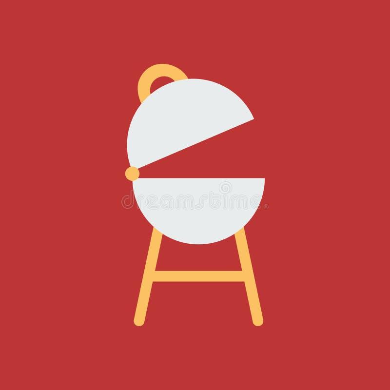 Eenvoudige vectorillustratie met capaciteit te veranderen De grill van het silhouetpictogram vector illustratie
