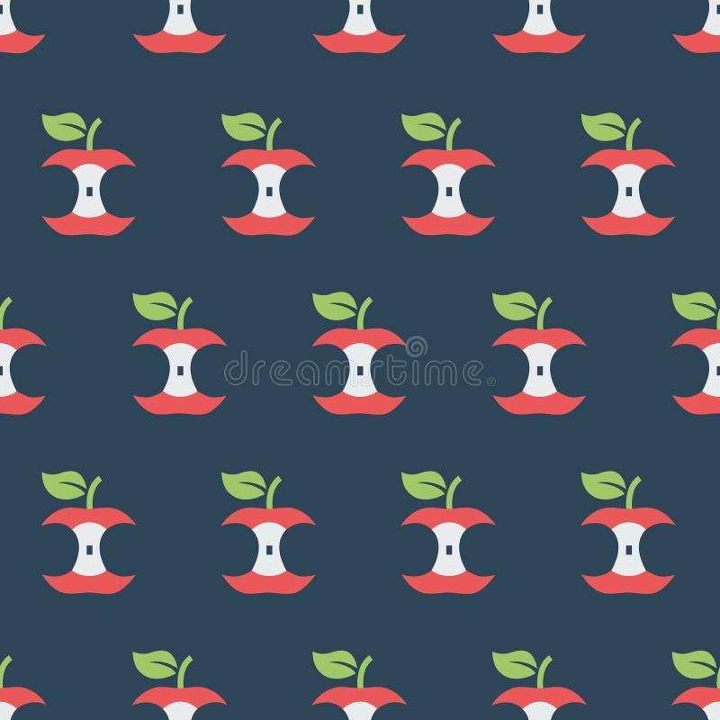 Eenvoudige vectorillustratie met capaciteit te veranderen Patroon met appelkernen vector illustratie