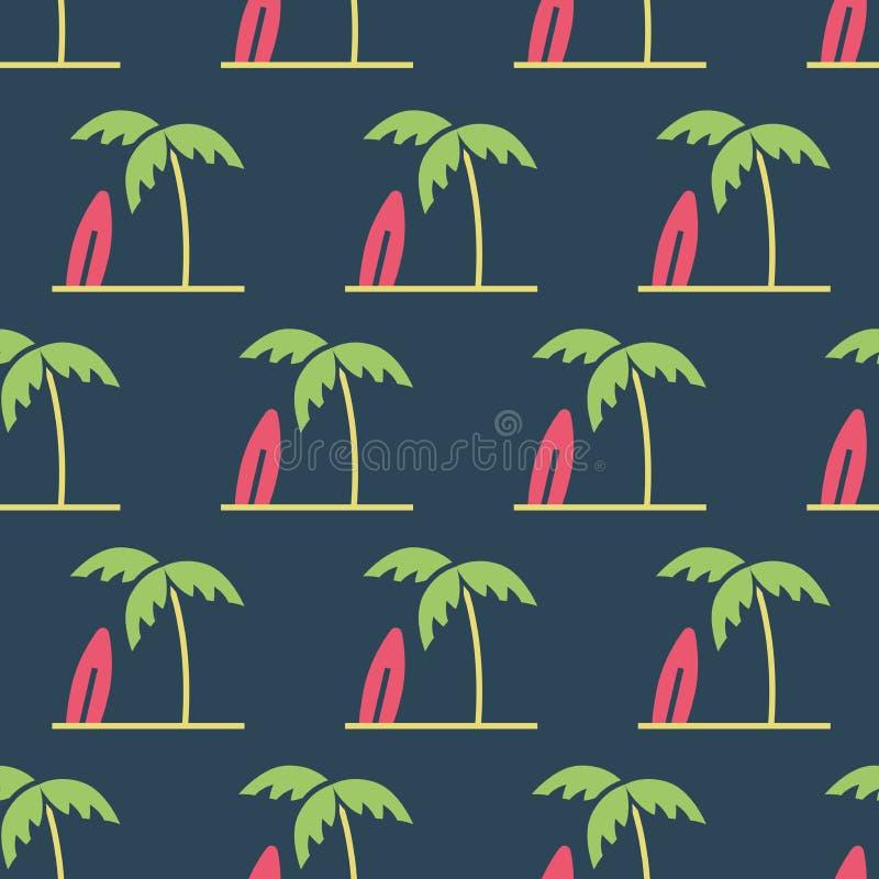Eenvoudige vectorillustratie met capaciteit te veranderen Patroon met palmen vector illustratie
