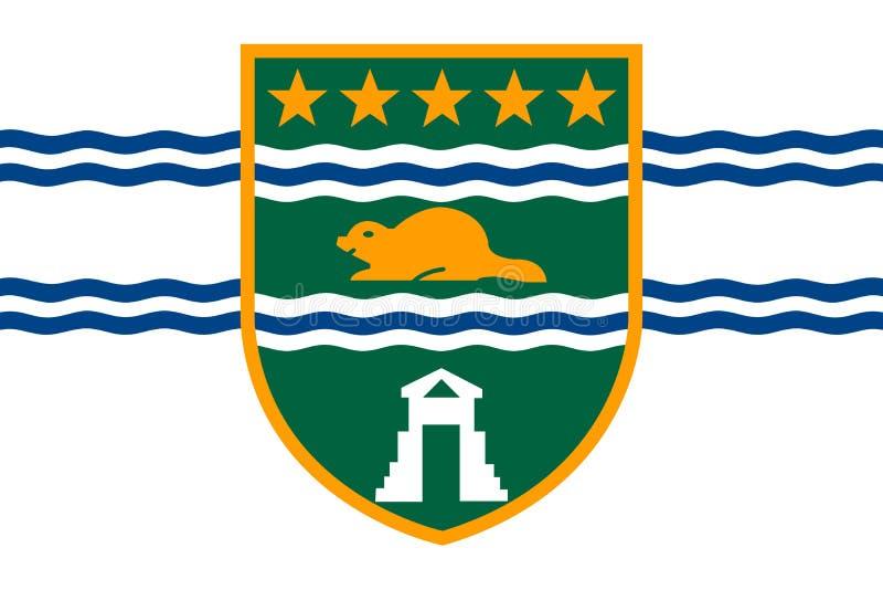 Eenvoudige vlag van Stad van Canada stock illustratie