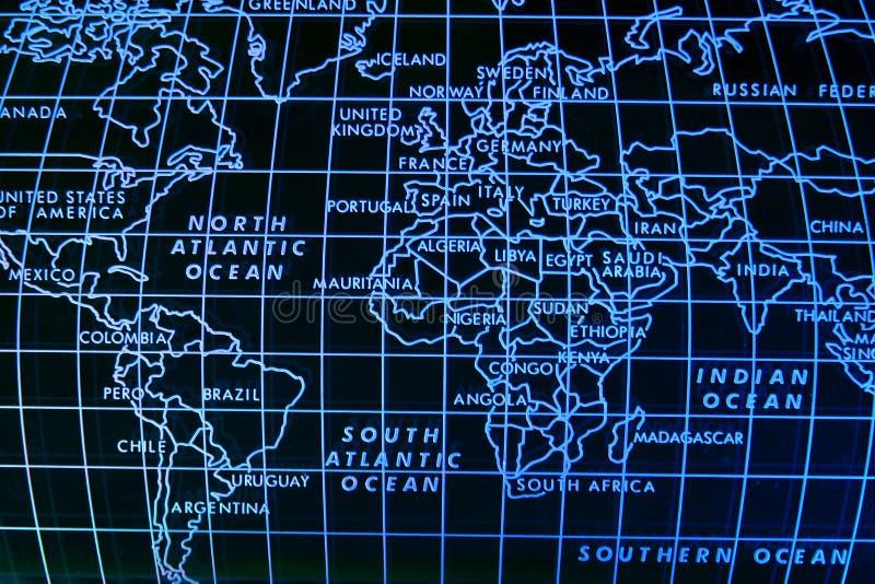 Eenvoudige wereldkaart royalty-vrije illustratie