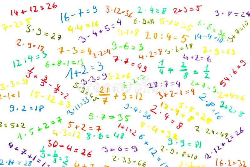 Eenvoudige wiskunde stock fotografie