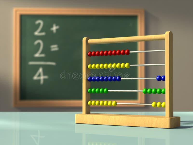 Eenvoudige wiskunde stock illustratie