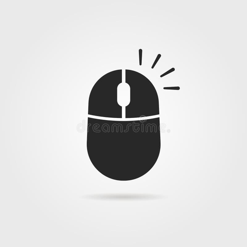Eenvoudige zwart klikt pictogram met de rechtermuisknop aan stock illustratie