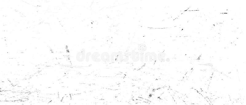 Eenvoudige zwart-witte abstracte grungetextuur als achtergrond, vectormalplaatje, het korrelige stedelijke element van het illust vector illustratie
