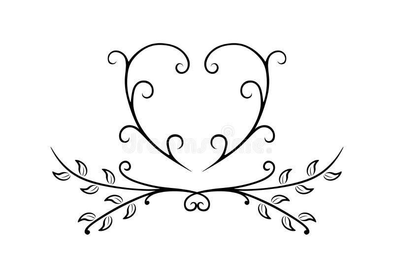 Eenvoudige Zwart-witte Bloemen door Pitripiter vector illustratie