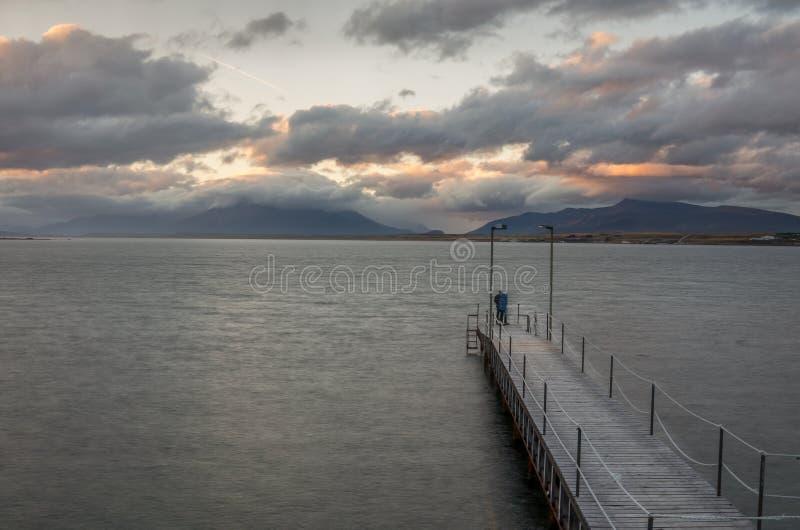 Eenzaam Dok in Zuidelijk Patagonië stock fotografie