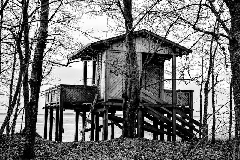 Eenzaam huis royalty-vrije stock foto