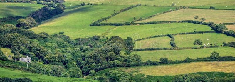 Eenzaam huis in de heuvels van Exmoor royalty-vrije stock foto