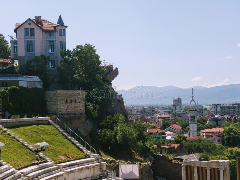 Eenzaam Huis op een Heuvel royalty-vrije stock afbeelding