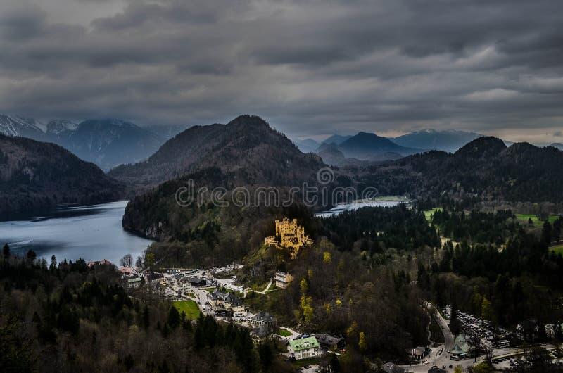 Eenzaam kasteel stock foto