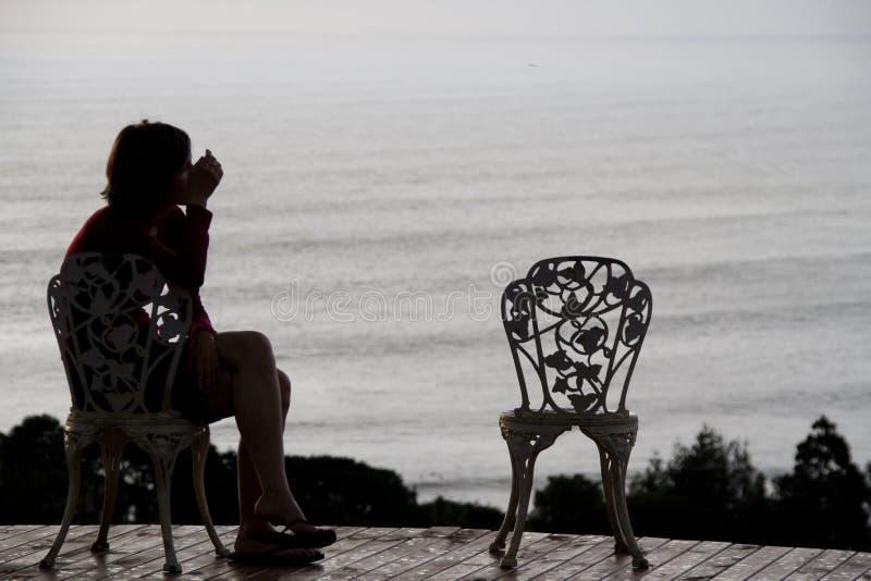 Eenzaam meisje royalty-vrije stock foto's