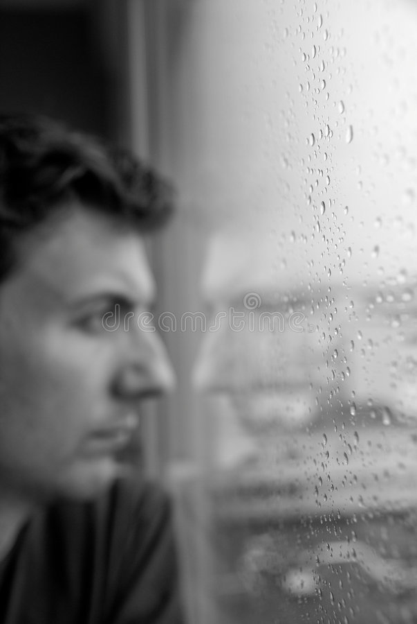 Eenzaam op een regenachtige dag royalty-vrije stock fotografie
