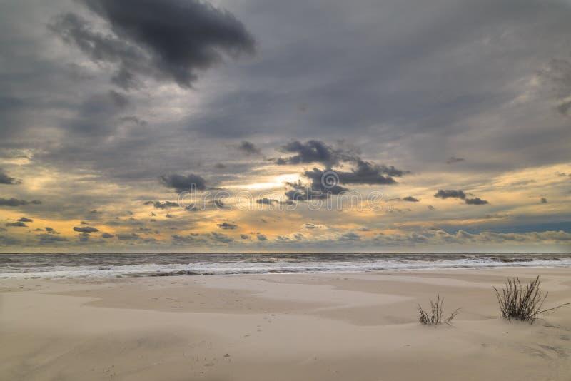 Eenzaam strand stock foto