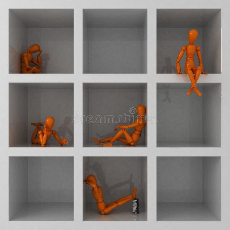 Eenzaamheid vector illustratie