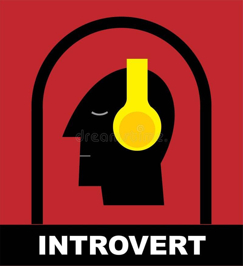 Eenzaamheid Me Tijd introvert stock illustratie