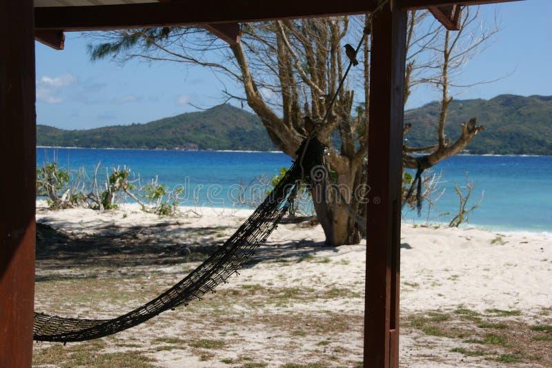 Eenzaamheid op het eiland in de oceaan royalty-vrije stock foto