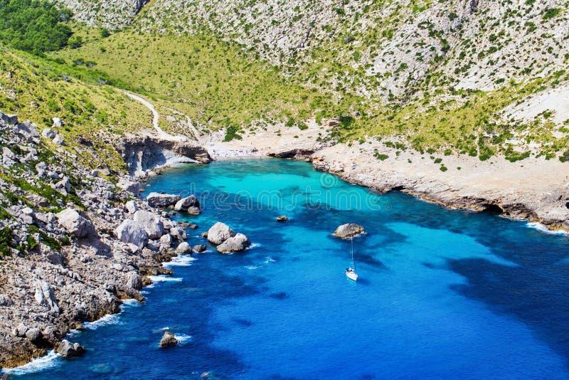 Eenzame Baai op Mallorca, Spanje royalty-vrije stock foto's