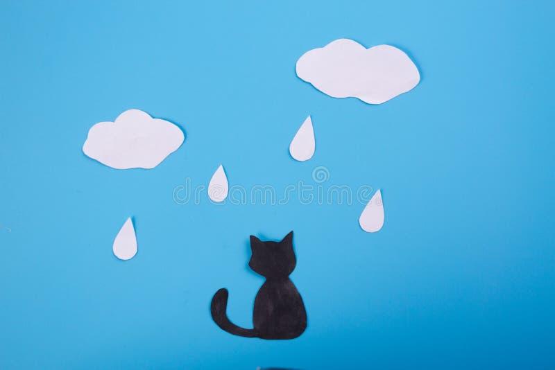 Eenzame dakloze kat stock foto