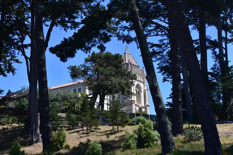 Eenzame Eenzame de Bergcampus van de Berguniversiteit, 2 royalty-vrije stock afbeelding