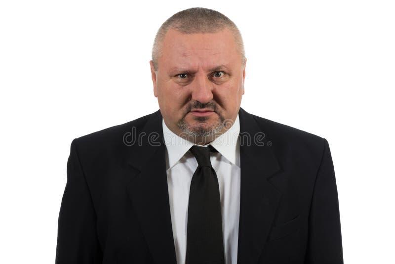 Eenzame en wanhopige zakenman stock foto