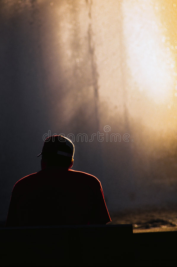 Eenzame Mens stock fotografie