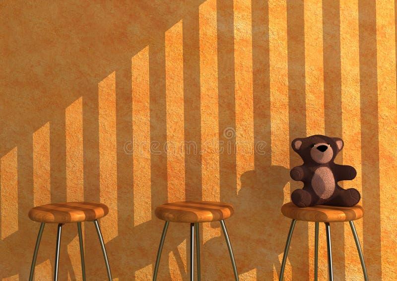 Eenzame Teddy royalty-vrije illustratie