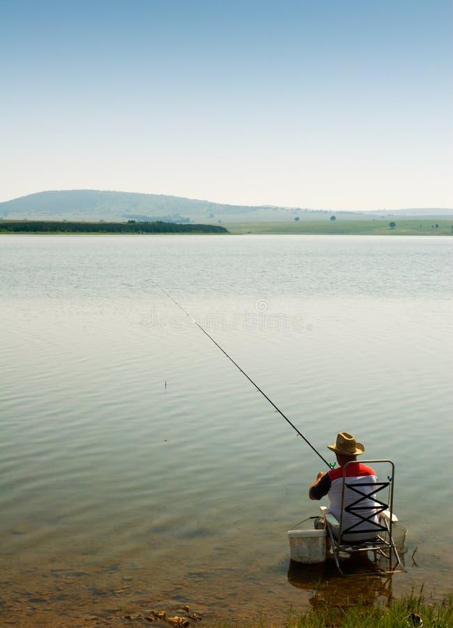 Eenzame visser royalty-vrije stock foto