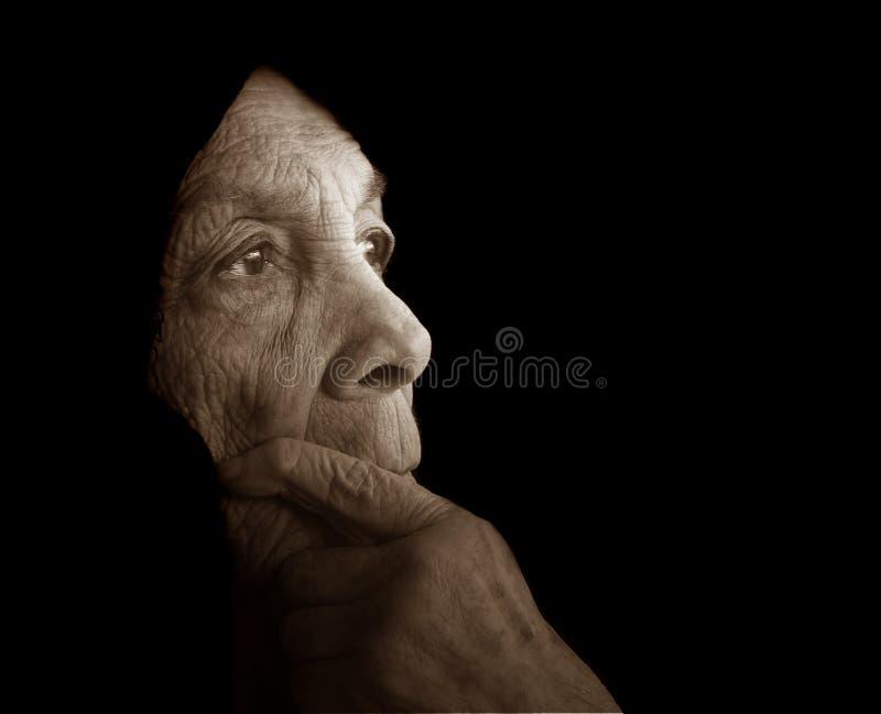 Eenzame Vrouw royalty-vrije stock foto